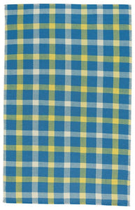 Beach Club Plaid Rug, Provincial Blue