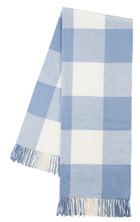 Denim Buffalo Check Pattern Italian Throw Blanket