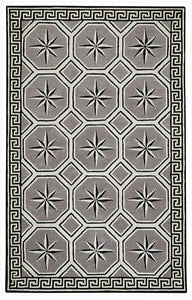 Compass Key Area Rug: Nautical Rug in Storm