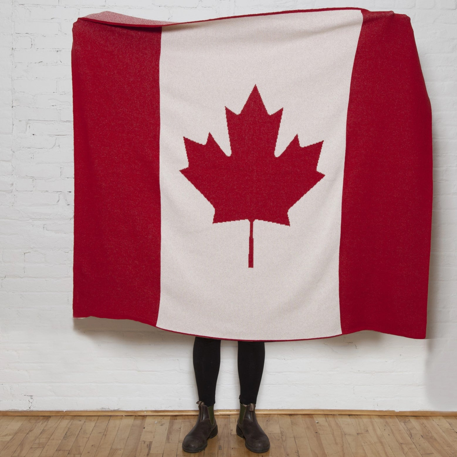 Eco Canadian Flag Throw Blanket