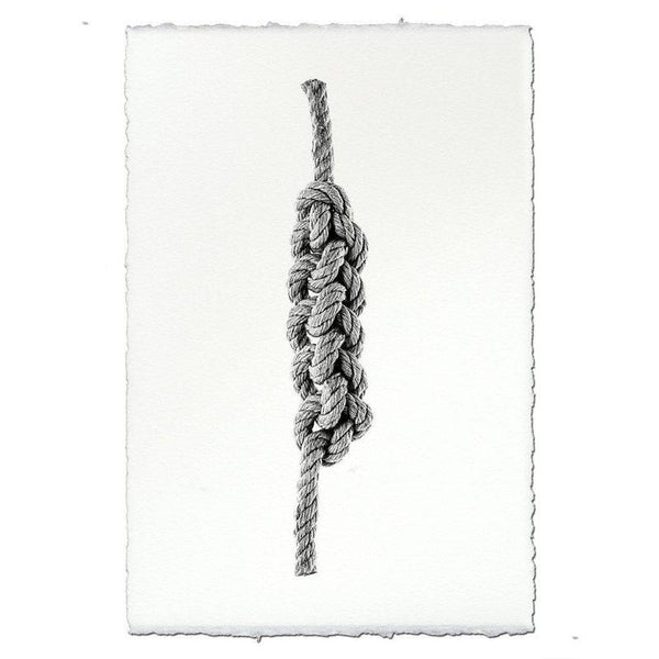 Chain Plait - Nautical Rope Knot Wall Art Print