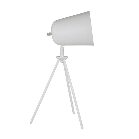 The Greta Tripod Metal Table Desk Lamp Matte White 18""