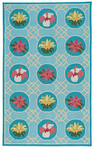 Flower Trellis Area Rug