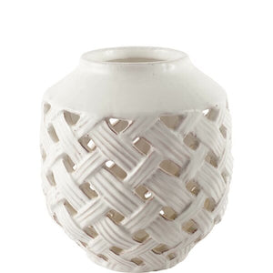Lattice Forillon Ceramic Vase
