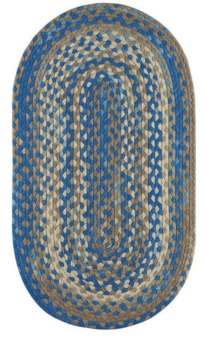 Braided Area Rug Garrison: in Bluestone