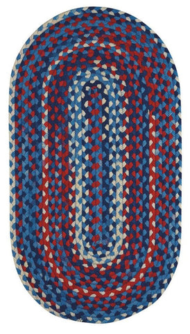 Braided Area Rug Garrison: Patriotic Braided Rug