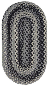Garrison Braided Area Rug: in Grey Braided Rug