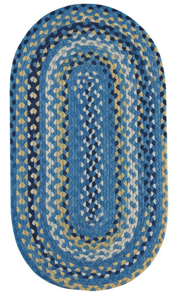Braided Area Rug: Provincial Blue Area Rug