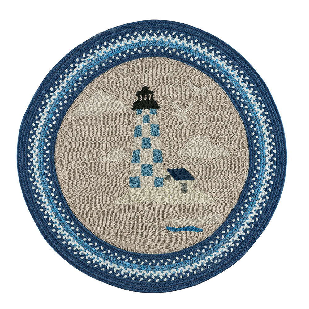 Hyport Lighthouse: Marina Braided Finish Rug