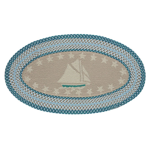 Hyport Sailboat: Surf Braided Finish Rug