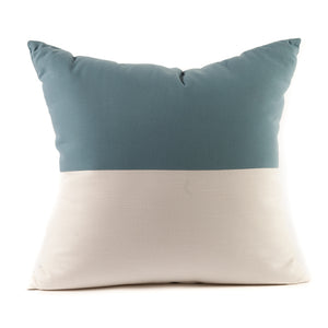 Half and Half Flag Pattern Throw Pillow in Blue and White