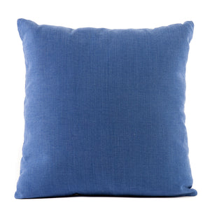 Solid Blue Cotton Pillow