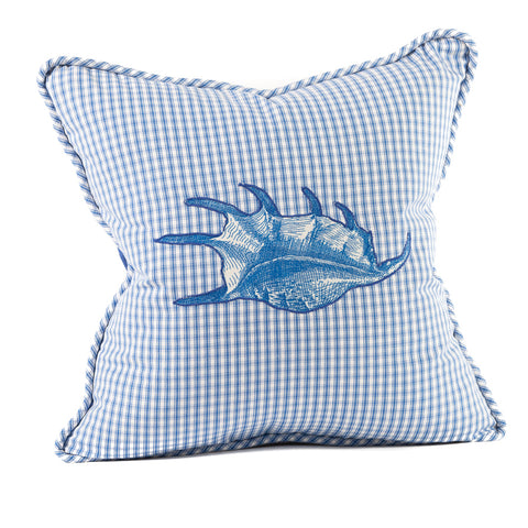 Shell Applique Pillow