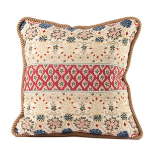 Indian Cotton Print Fabric Pillow