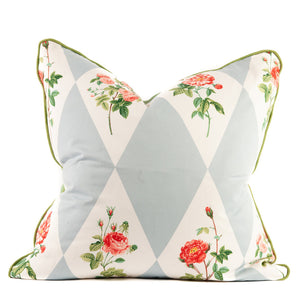 Signature Diamonds and Roses Cotton Print Throw Pillow