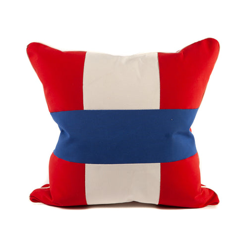 Red White and Blue Nautical Flag Pillow
