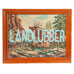 Vintage Paint By Number with LANDLUBBER Text