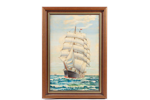 1960's Clipper Ship Paintings Set
