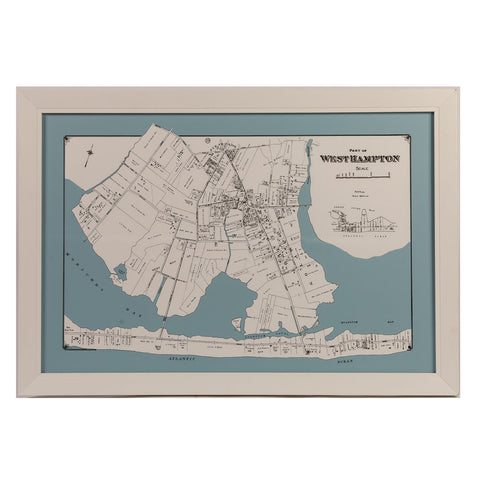 Blue and White Map of Westhampton