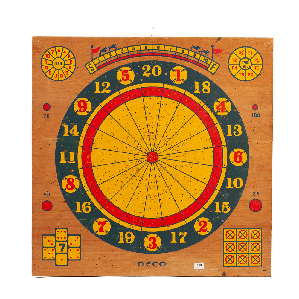 Mid Century Two Sided Dart Board