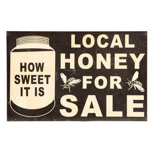Melamine Local Honey for Sale Sign