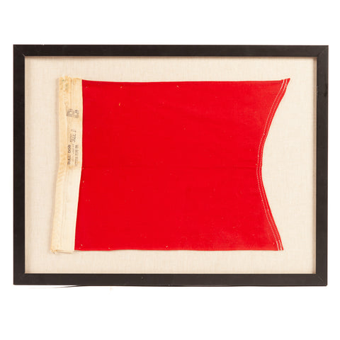Framed Nautical Letter Flag on Linen Ground B