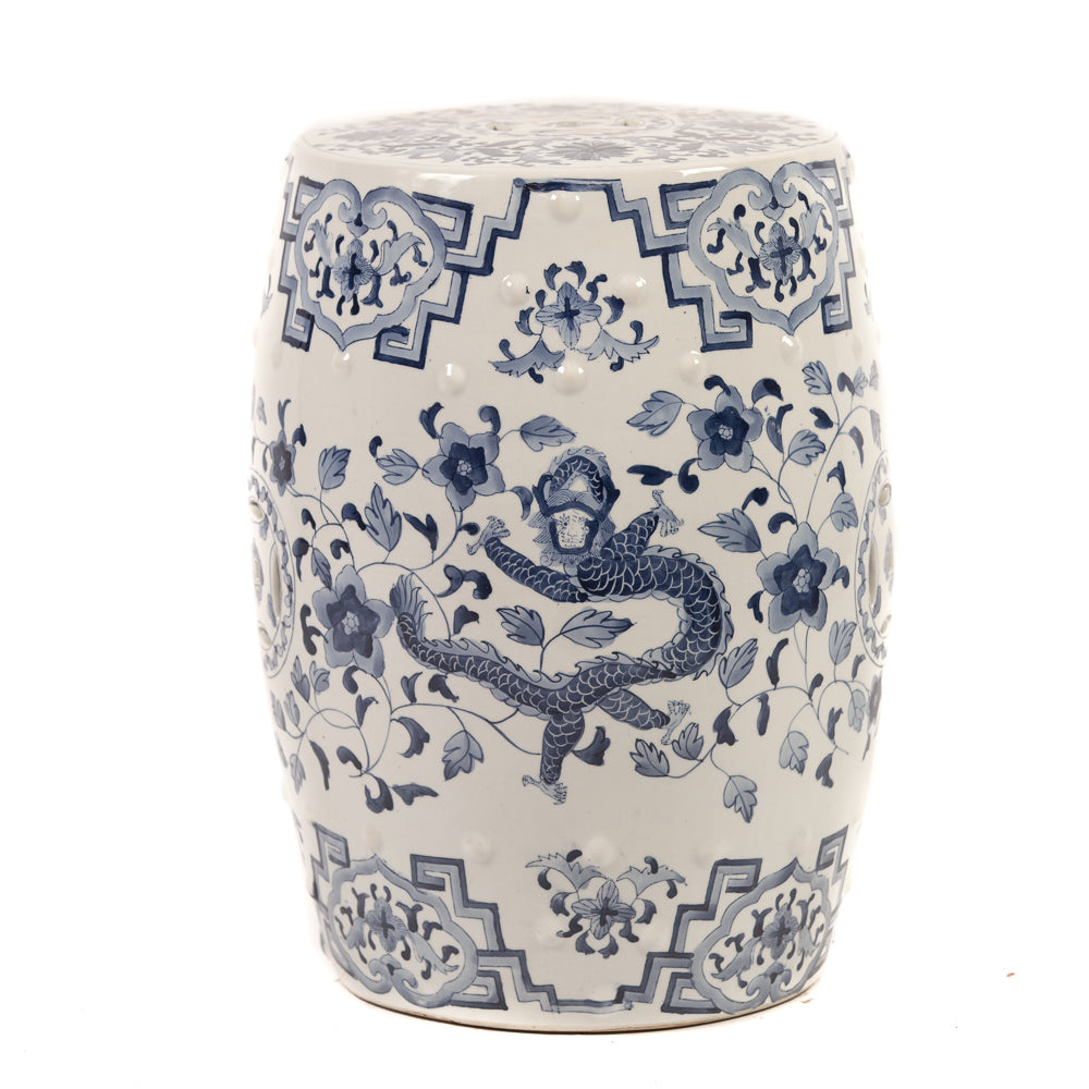 Outstanding Blue And White Chinese Ceramic Garden Stool With Dragon Andrewgaddart Wooden Chair Designs For Living Room Andrewgaddartcom