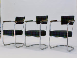 Set of 10 Art Deco Kem Weber style Accent Chairs for Lloyd