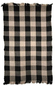 Wool Check Pattern Rug