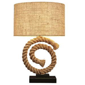 Curled Rope Table Lamp