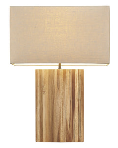 Bimini Raw Teak Table Lamp