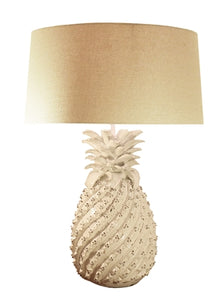 Ceramic Cream Pineapple Lamp