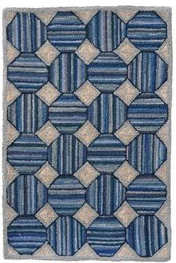 Hooked Area Rug, Cottage Style