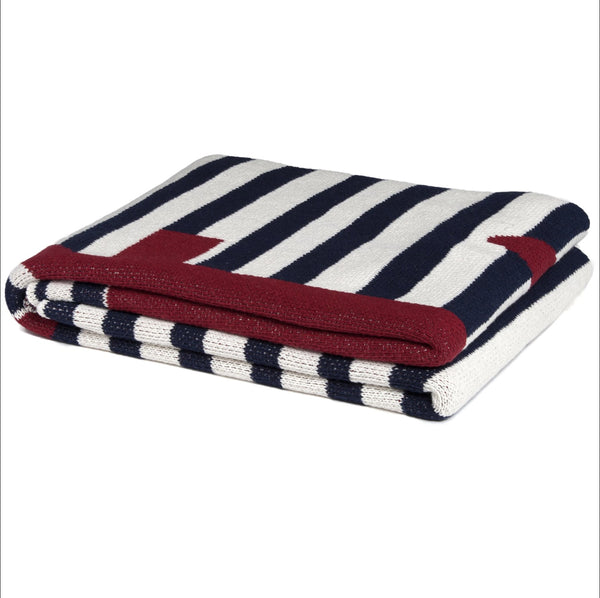 Eco French Stripe Throw Blanket