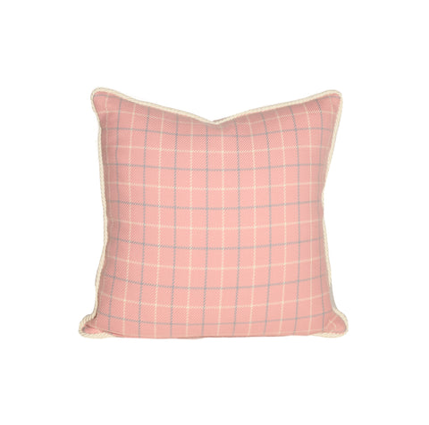 Pink and Blue Tattersall Pillows