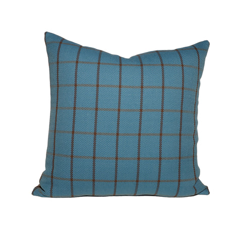 Blue and Brown Plaid Pillows