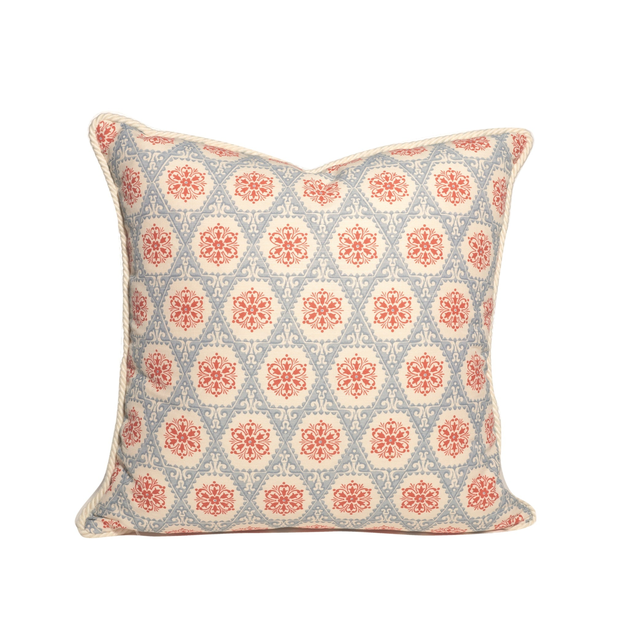 Red White and Blue Geometric Pattern Throw Pillows