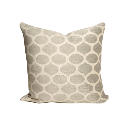 Grey and White Modern Chenille Throw Pillows
