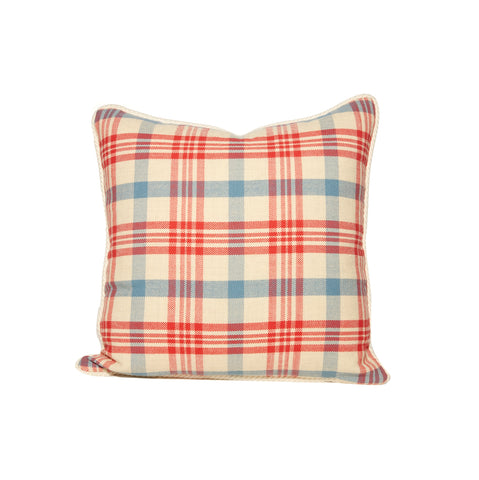 Red White and Blue Plaid Throw Pillows