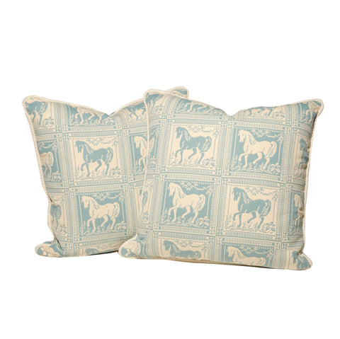 Horse Motif Block Throw Pillows