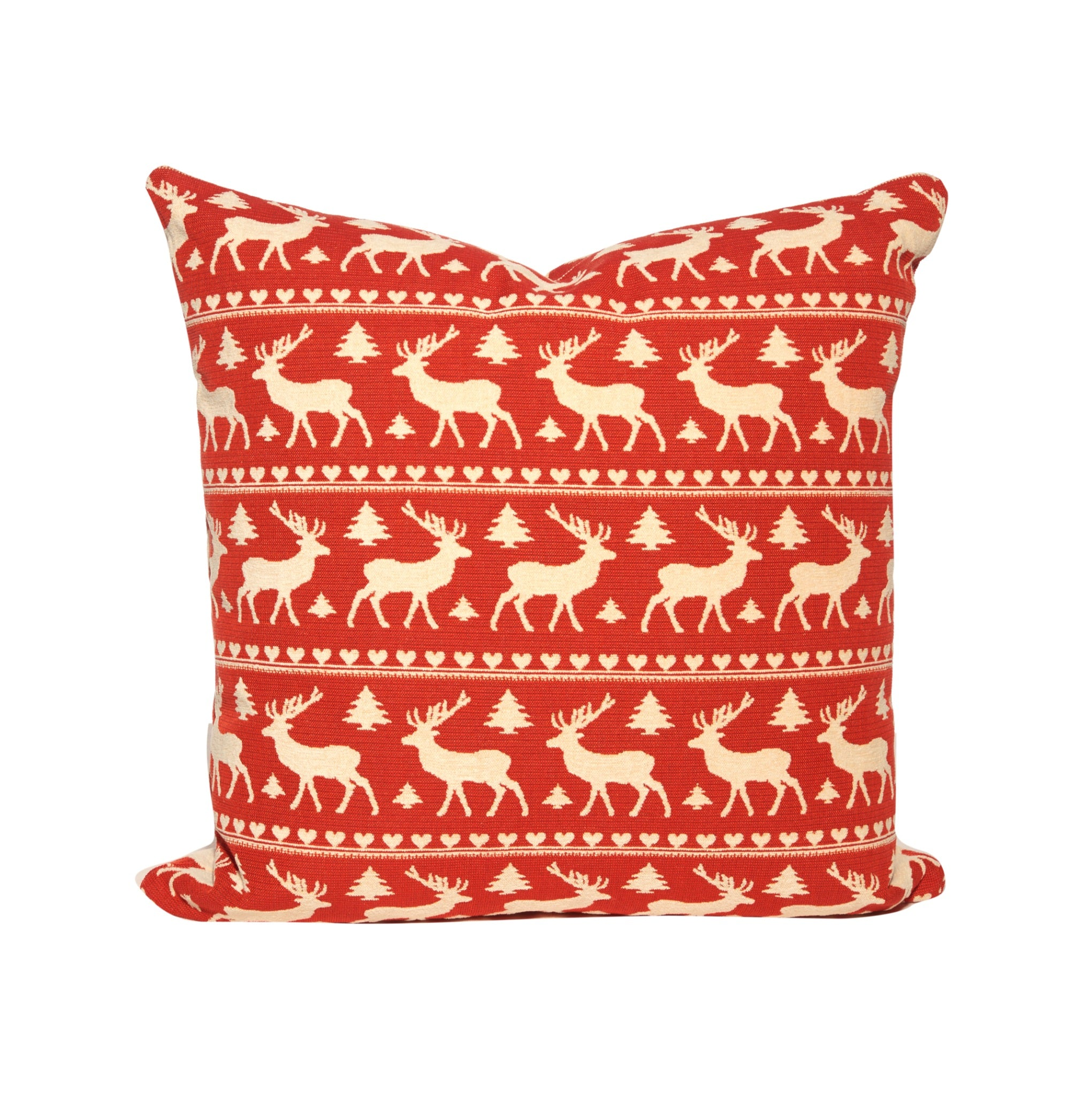 Reindeer Motif Throw Pillows