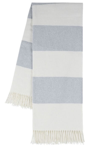 Hydrangea Rudgy Stripe Pattern Italian Throw Blanket