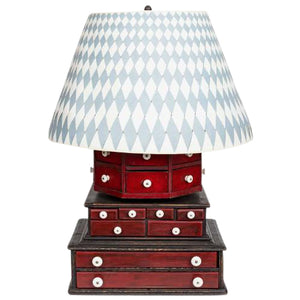 One-of-a-kind 'Diamond & Baratta' Large-Scale Sewing Box Lamp