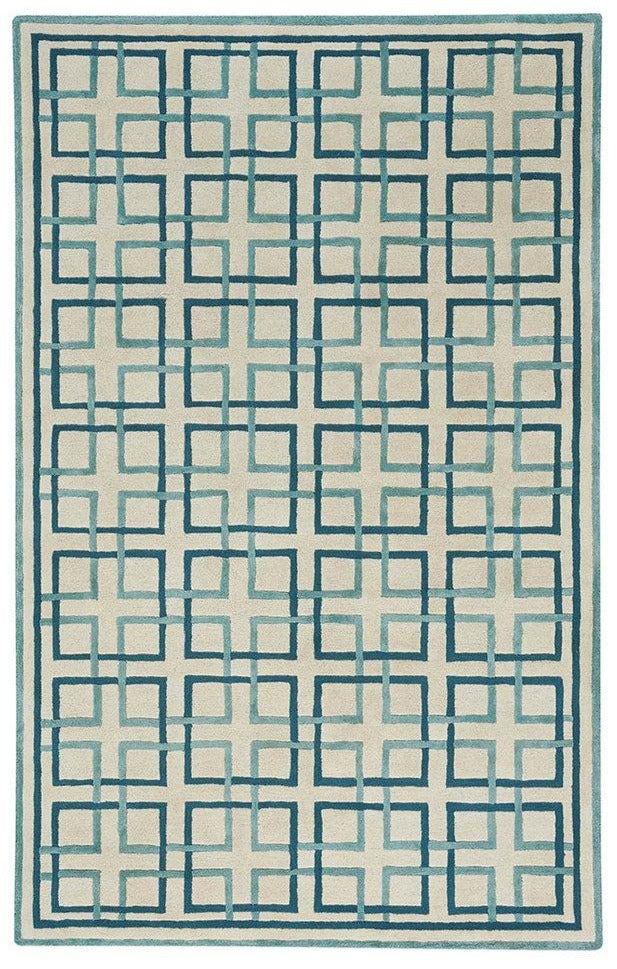 Area Rug Square Trellis in Cream
