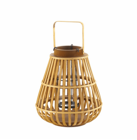 The Wright Wood Slat Lantern, Small and Large