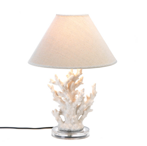 Biscayne White Coral Table Lamp