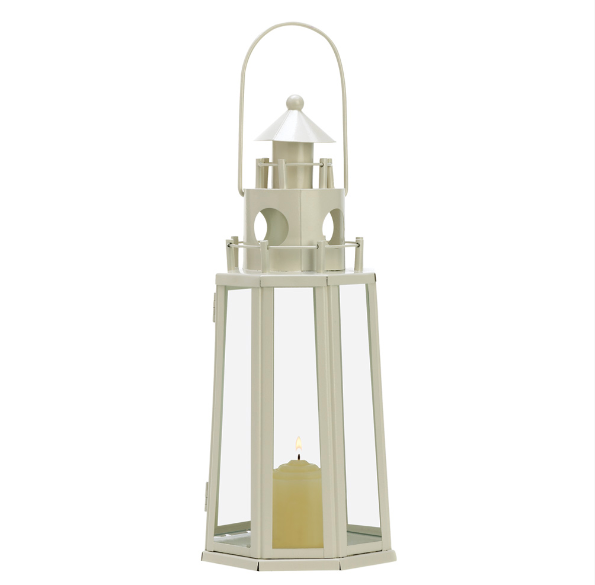 Ivory Lighthouse Candle Lantern