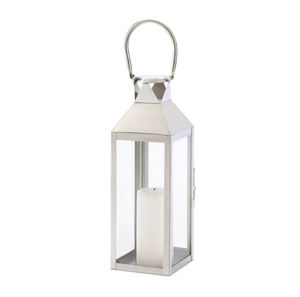 The Madison Polished Silver Contemporary Lantern