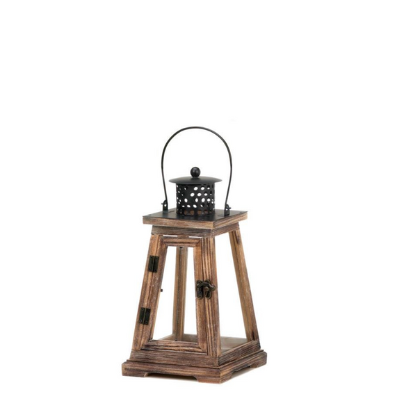 The Lodge Pine Candle Lantern Small