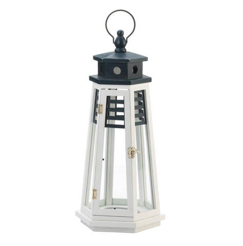 The Cape White and Navy Lighthouse Lantern